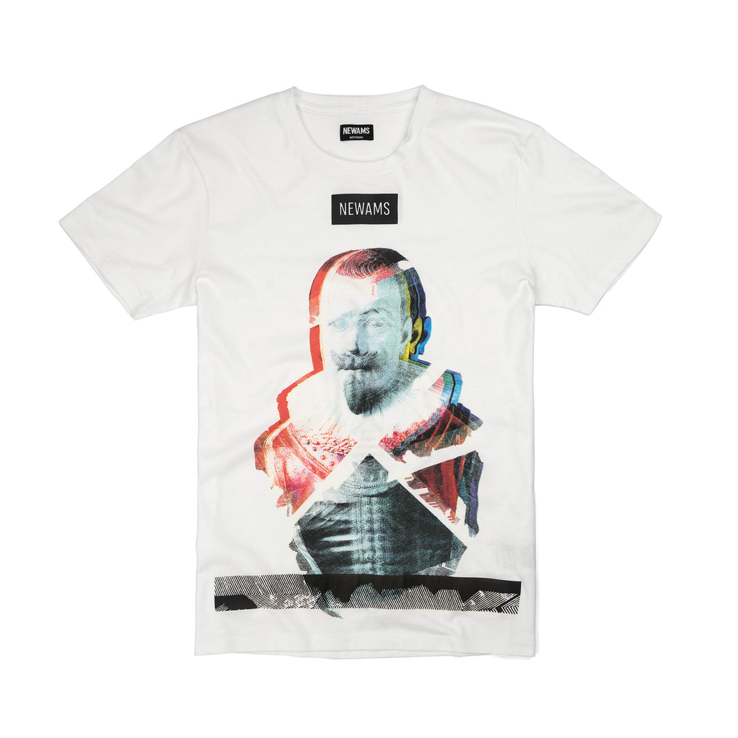 NEWAMS | Piet Heyn T-Shirt White - Concrete