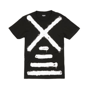 NEWAMS | Painted Mill T-Shirt Black - Concrete
