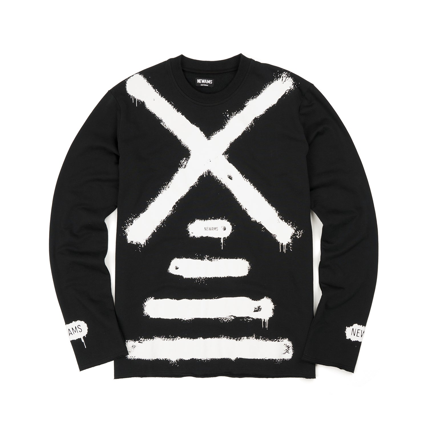 NEWAMS Painted Mill Sweater Black