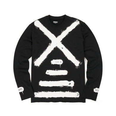 NEWAMS | Painted Mill Sweater Black - Concrete