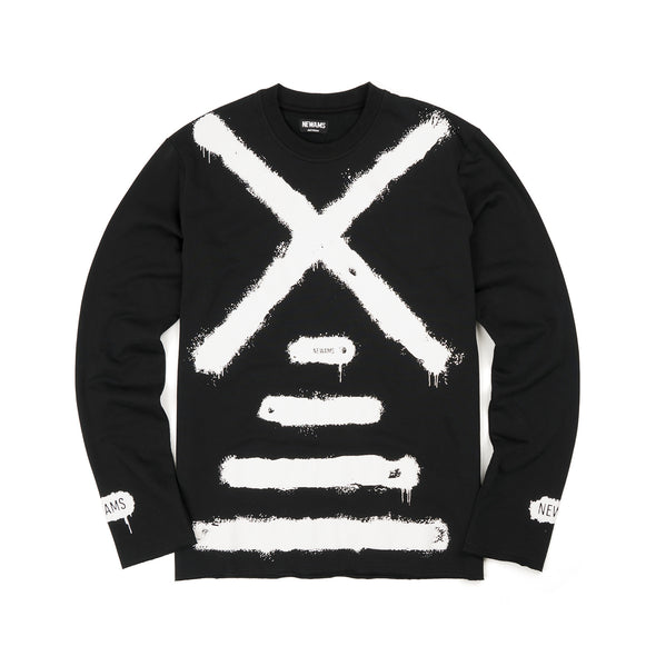 NEWAMS Painted Mill Sweater Black - Concrete