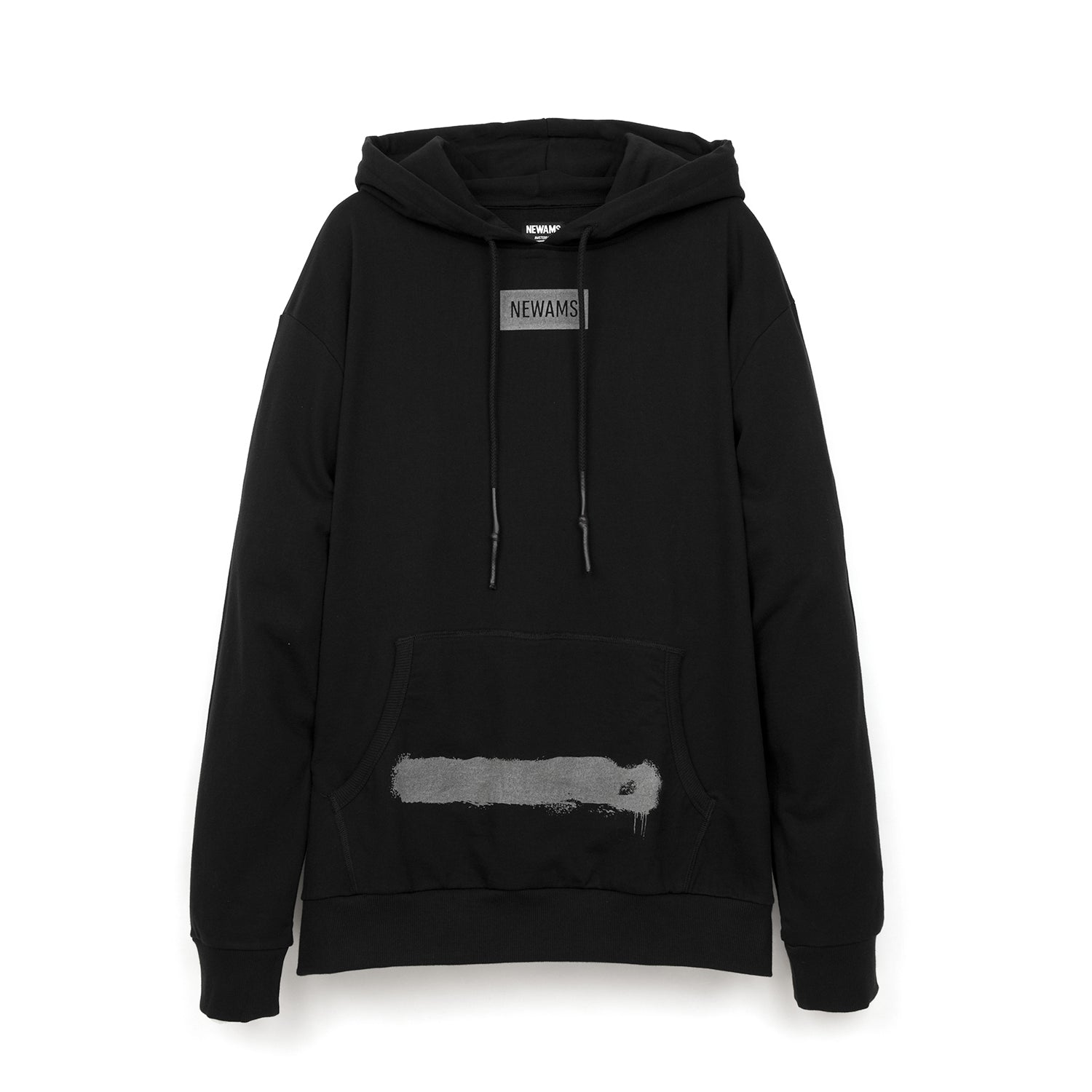 NEWAMS Painted Mill Oversized Hoody Black