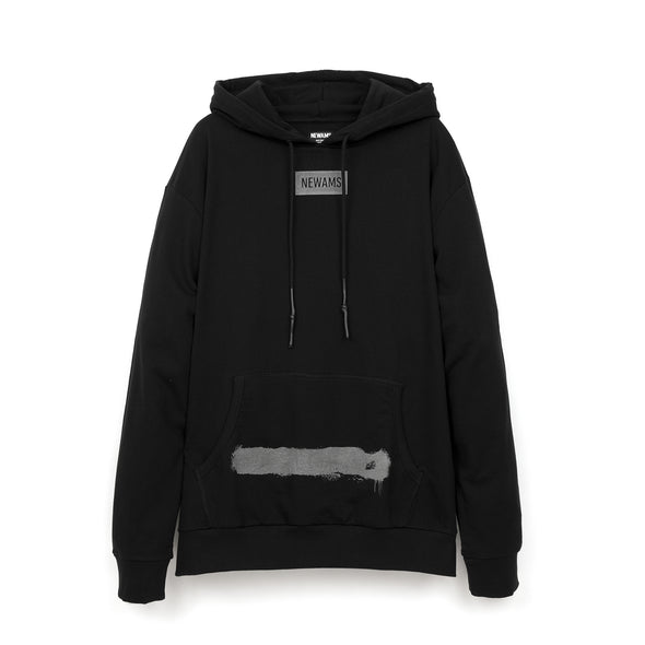 NEWAMS Painted Mill Oversized Hoody Black - Concrete