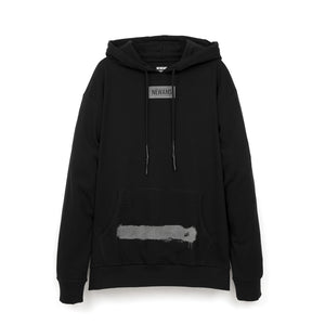 NEWAMS | Painted Mill Oversized Hoody Black - Concrete