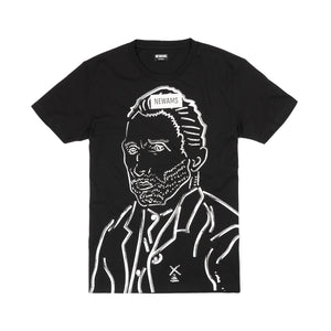 NEWAMS Van Gogh Drawing T-Shirt Black - Concrete