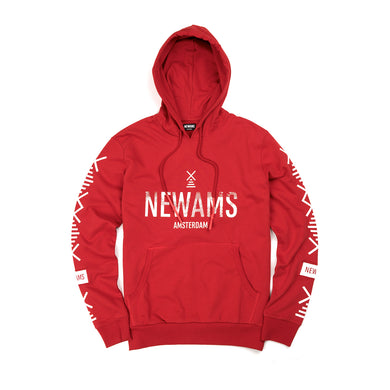 NEWAMS | Stamp Hoody Red - Concrete