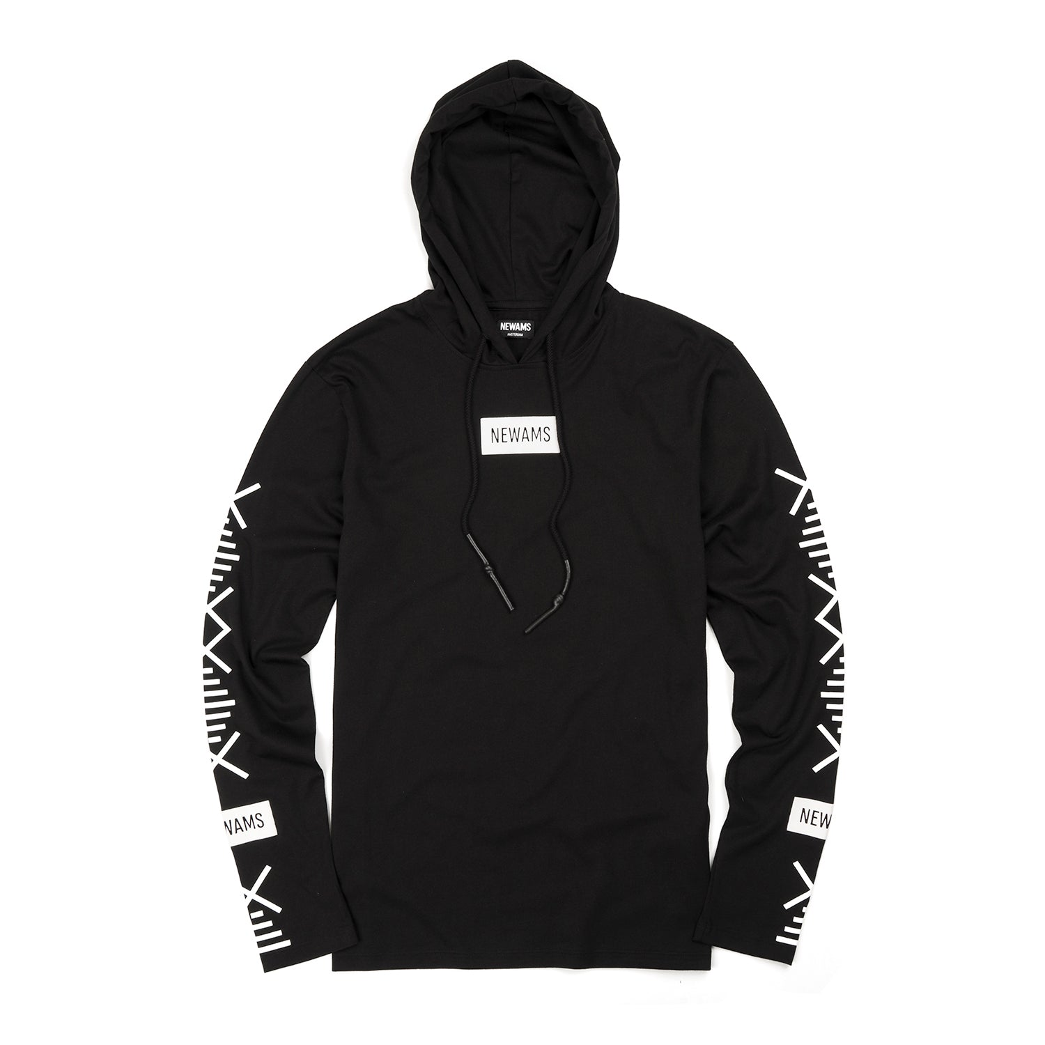 NEWAMS Hooded Long Sleeve Black