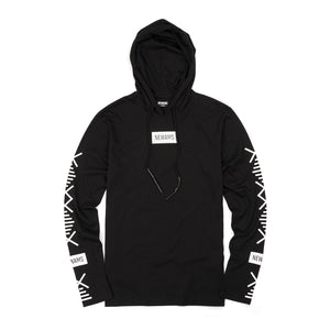 NEWAMS | Hooded Long Sleeve Black - Concrete