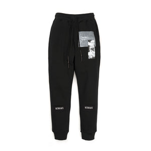 NEWAMS Black Page Sweatpants Black - Concrete