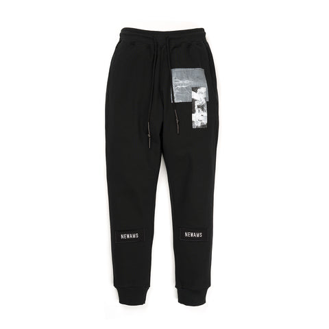 NEWAMS Black Page Sweatpants Black