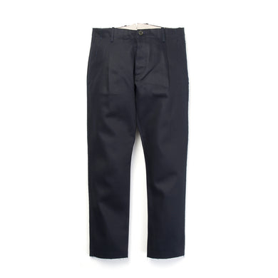 nine:inthe:morning 'Fold' Pleats Chino Blue/Navy - Concrete