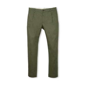 nine:inthe:morning 'Fold' Chino w/ Pence Olive Green