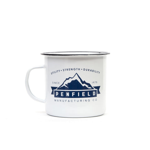 Penfield Enamel Mug White/Blue