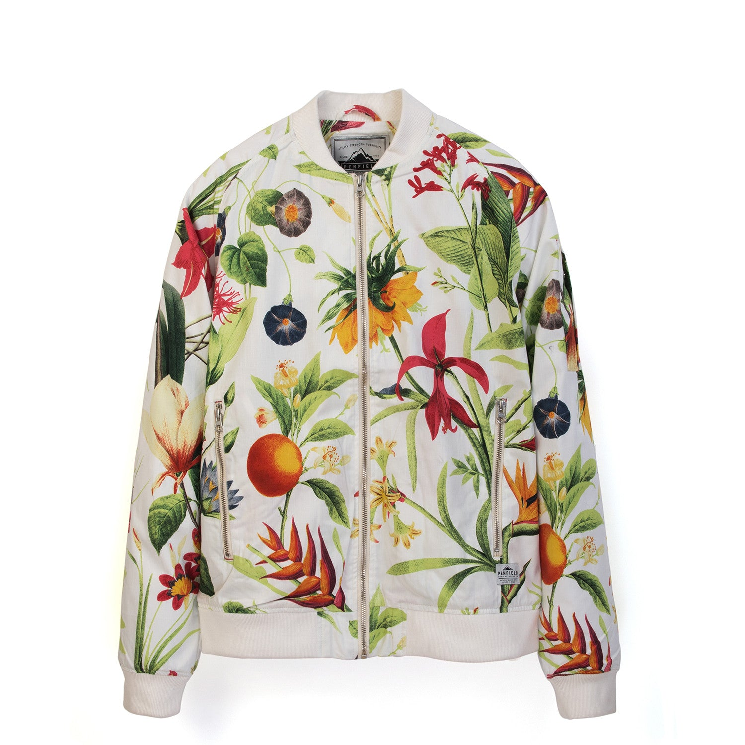 Penfield Mens Okenfield Botanical Jacket White