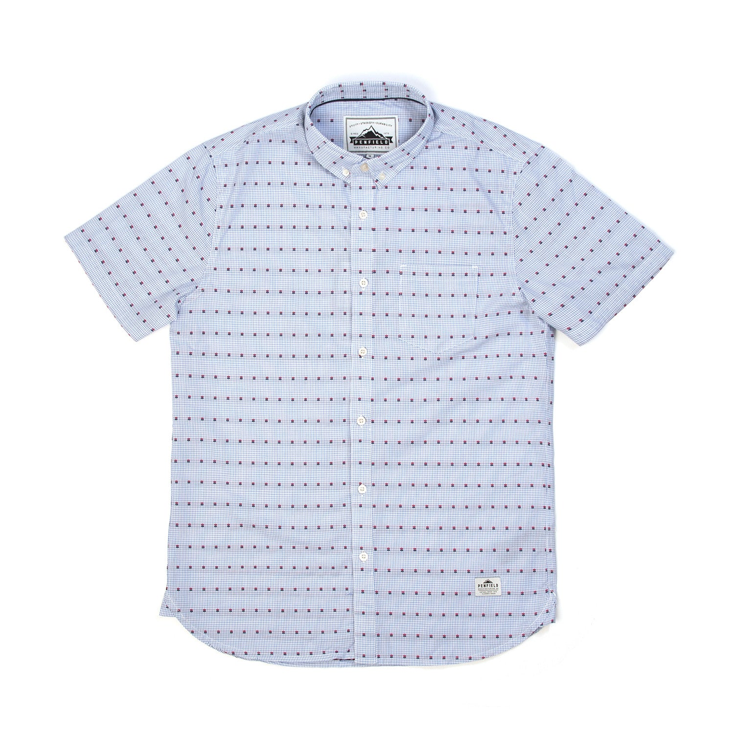 Penfield Mens Vona Shirt Blue - Concrete