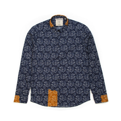 SaintPaul | Liberty L/S Shirt Blue - Concrete
