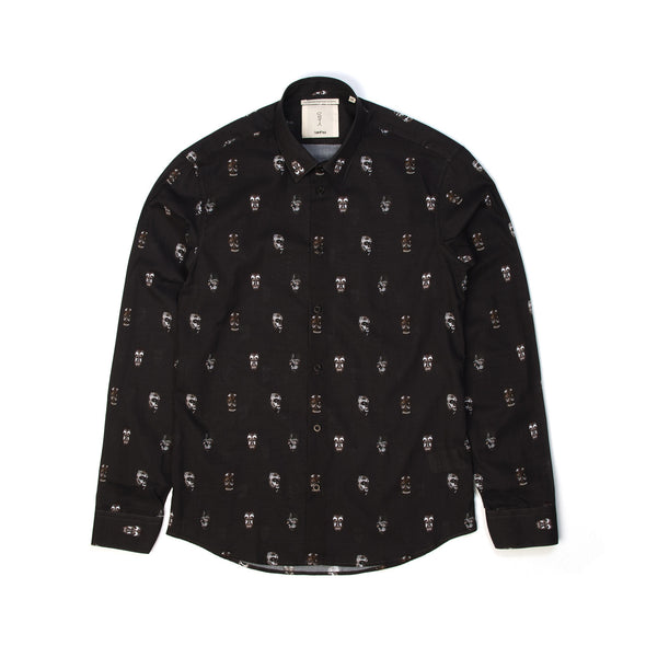SaintPaul | Masks L/S Shirt Black - Concrete