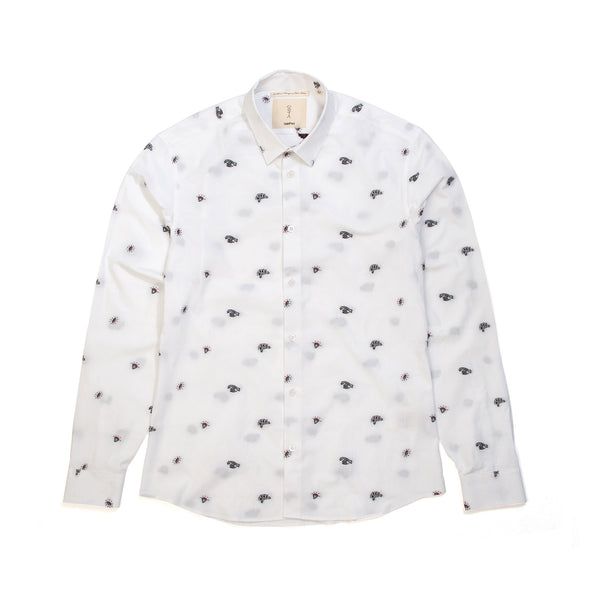 SaintPaul | Sailor L/S Shirt White - Concrete