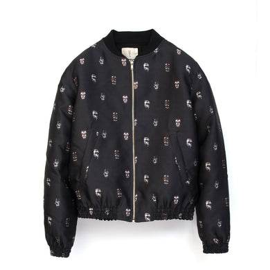 SaintPaul | Bombers Mask Jacket Black - Concrete