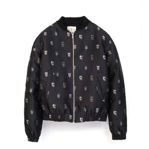 SaintPaul Bombers Mask Jacket Black - Concrete