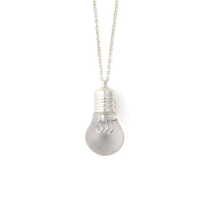 AMBUSH® | Light Bulb Charm Necklace Silver