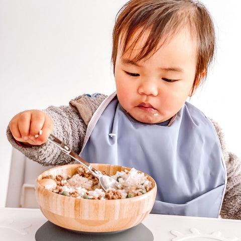 Bamboo bowls for babies