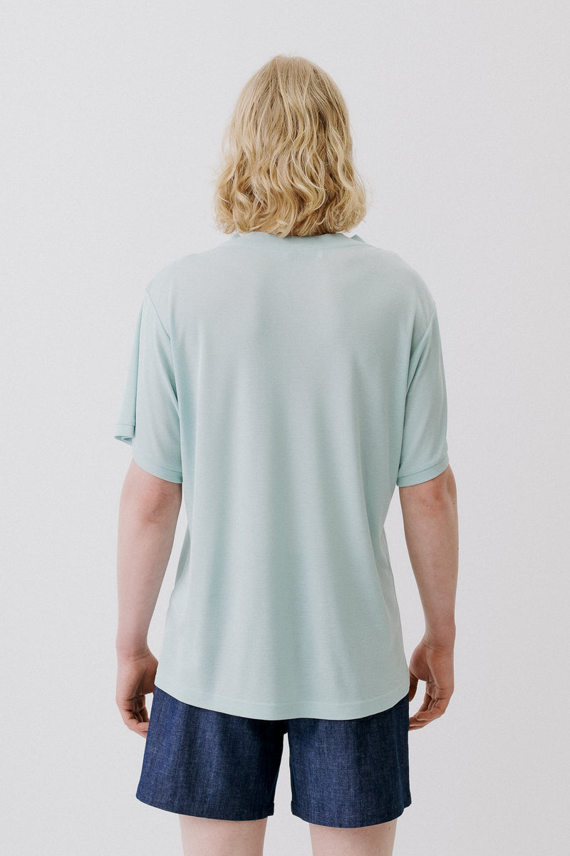T-Shirt Organic Tencel Rib, Mint Green