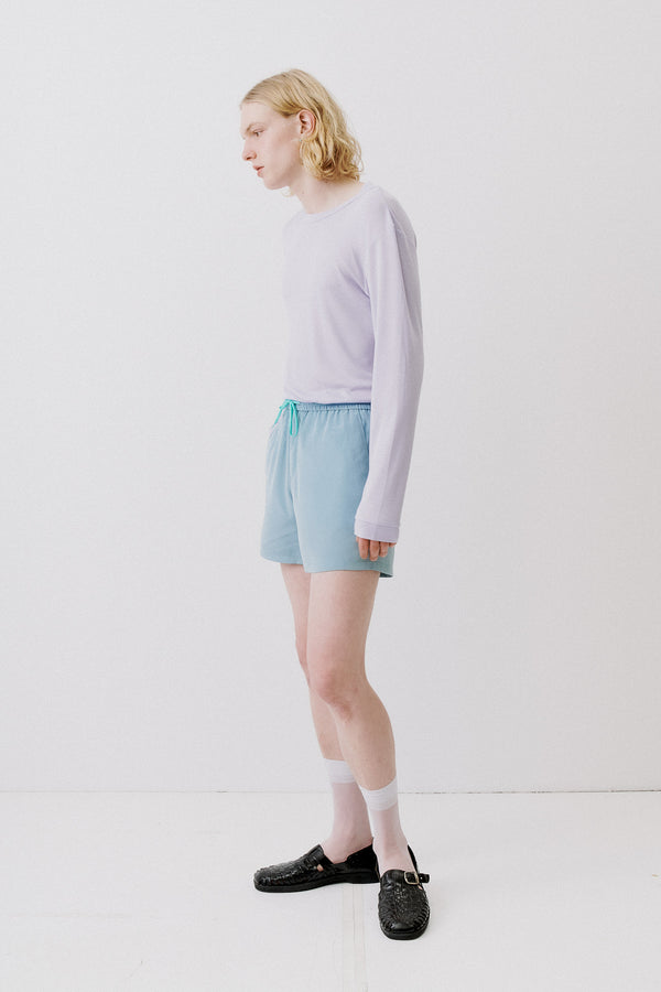 Shorts Silky Touch, Pastel Blue