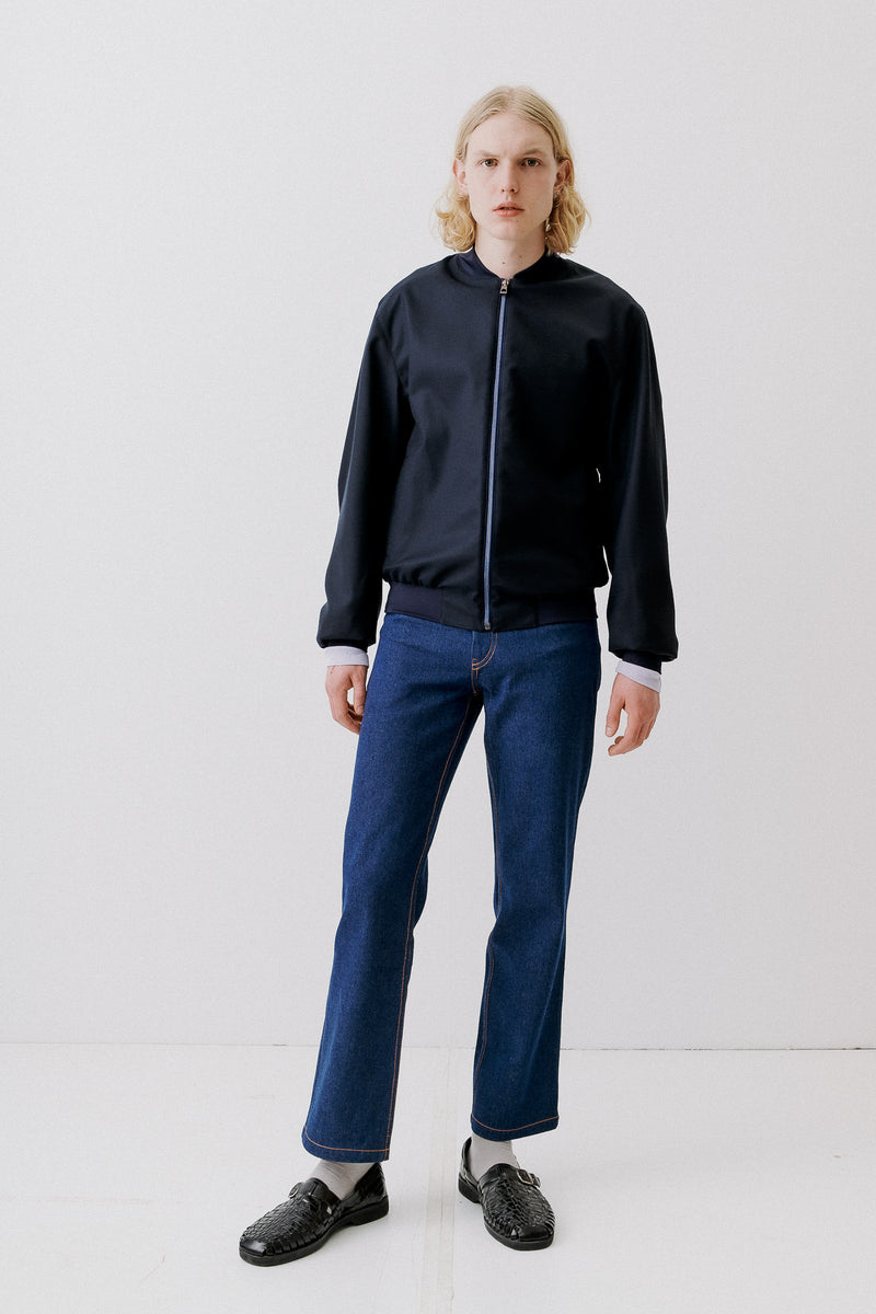 Bomber Virgin Wool, Navy