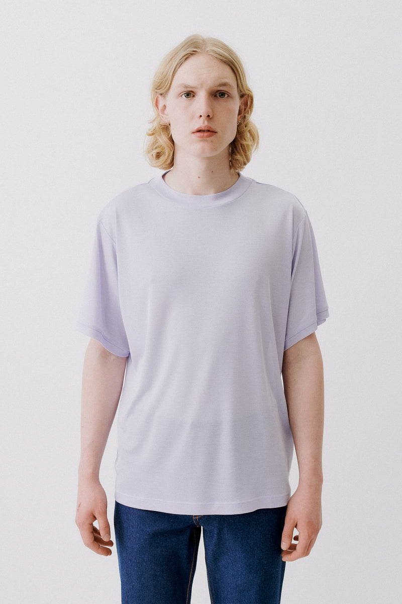 T-Shirt Organic Tencel Rib, Light Purple