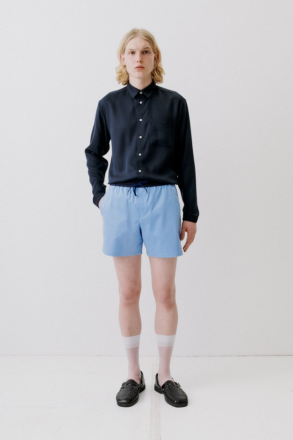 Shorts Cotton Modal, Light-Blue