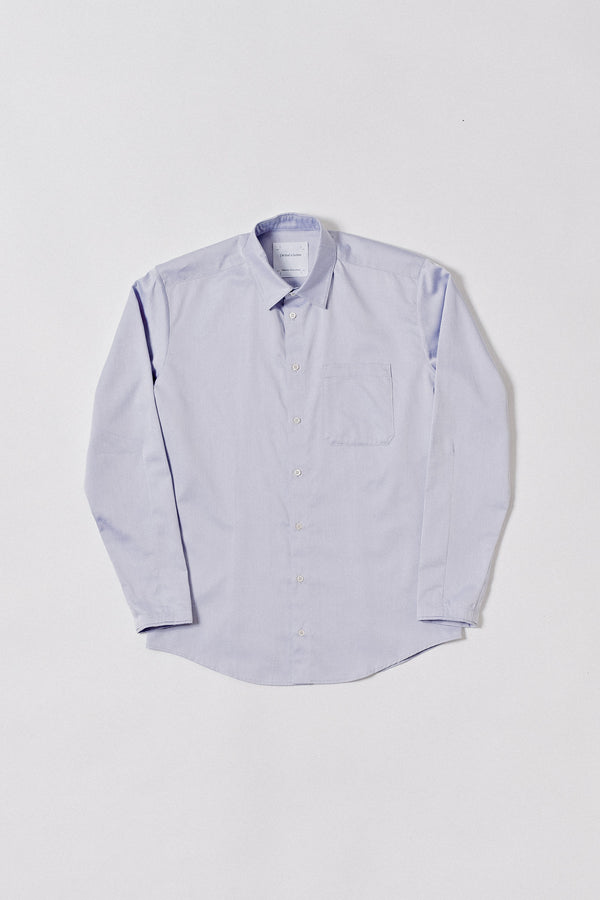 Shirt Without Cuffs Cotton, Light Purple