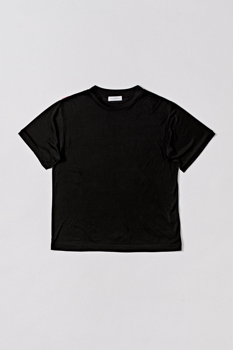 T-Shirt Organic Tencel Rib, Black