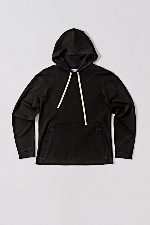 Longsleeve Hooded, Black