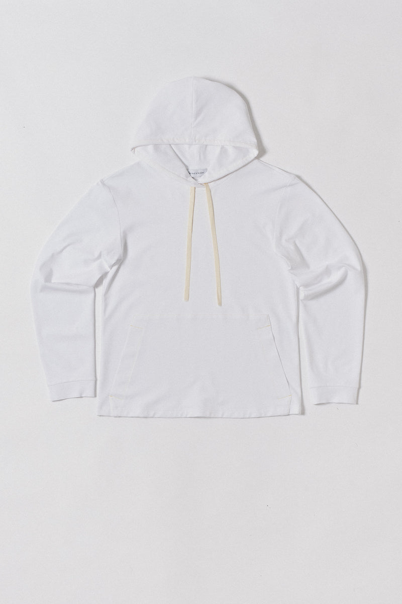 Longsleeve Hooded, White