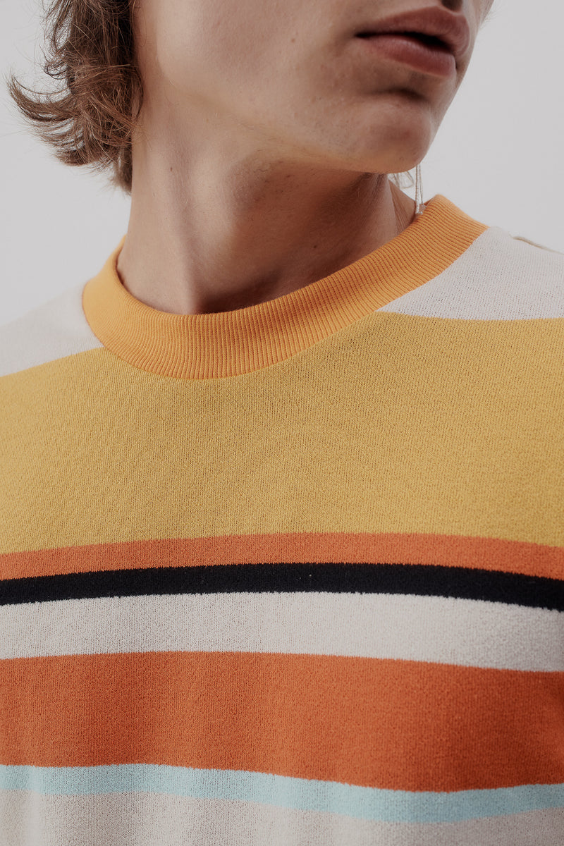 Pullover Striped, Orange