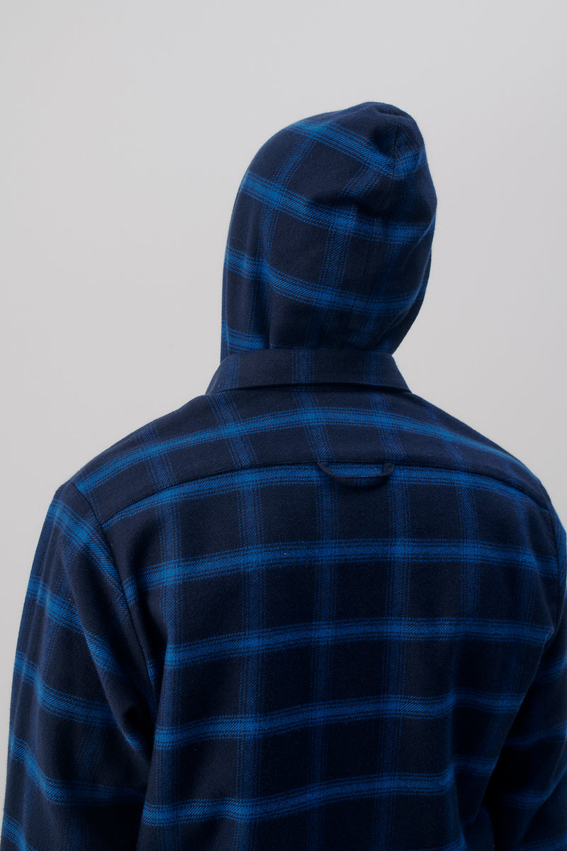 Overshirt Flannel Checkered, Blue