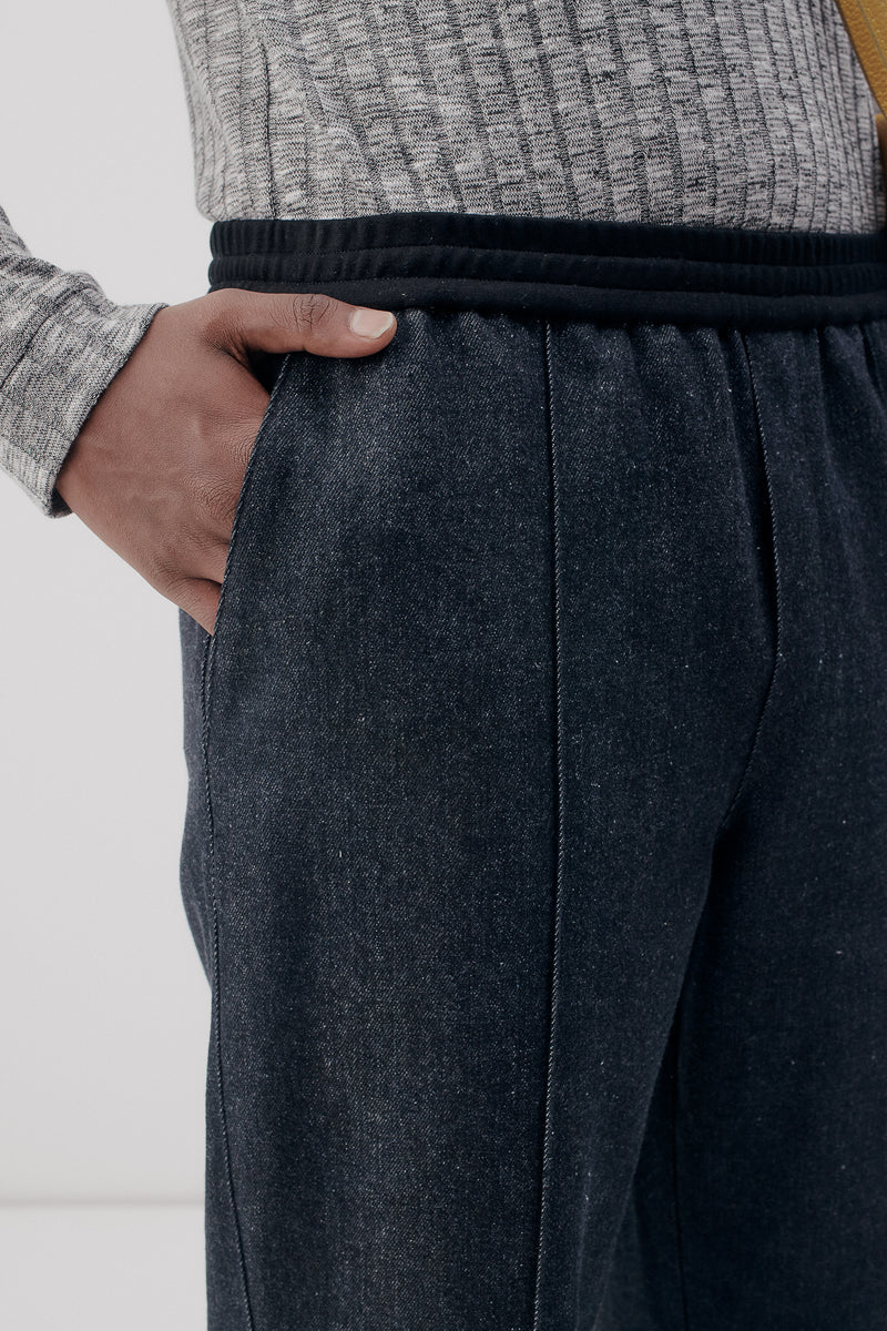 Track Pants Denim, Black