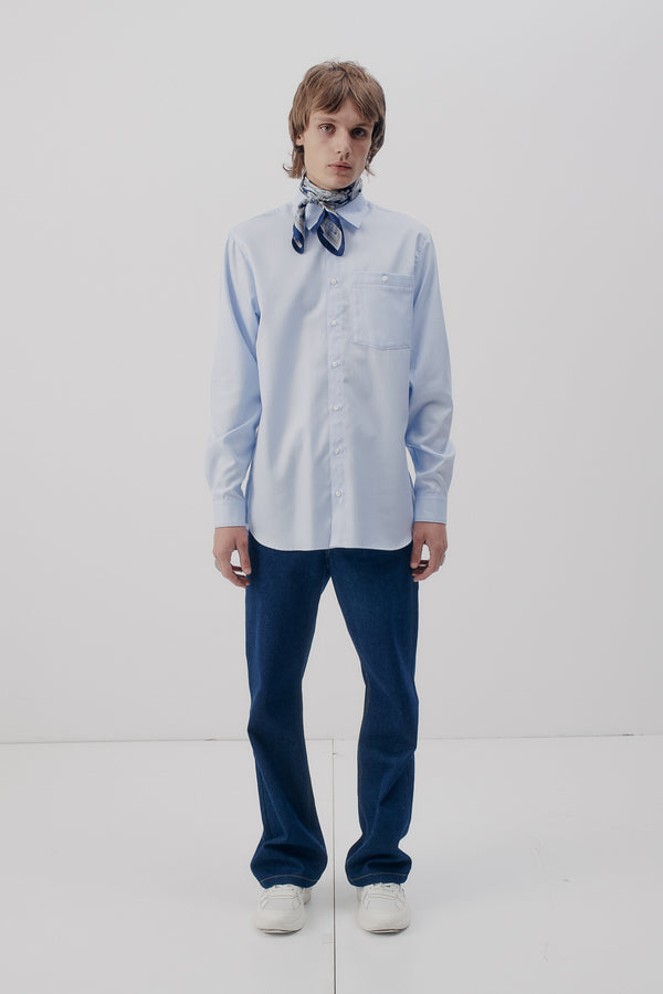 Shirt Classic Herringbone, Ice-Blue