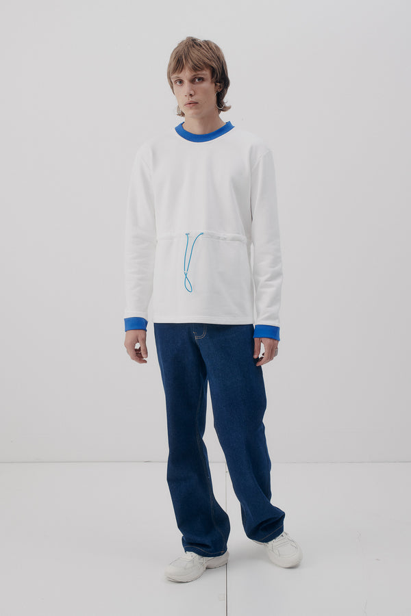 Sweater Tunnelcord, Off-White