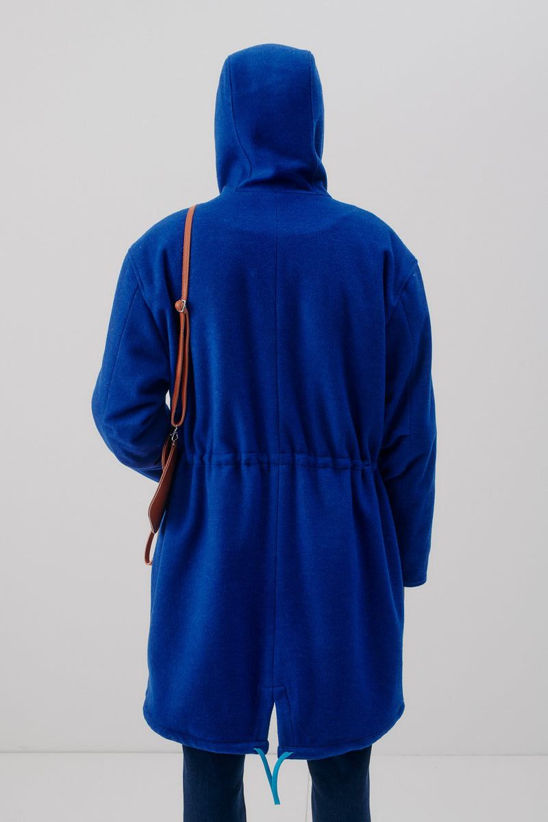 Parka Virgin Wool & Cashmere, Blue