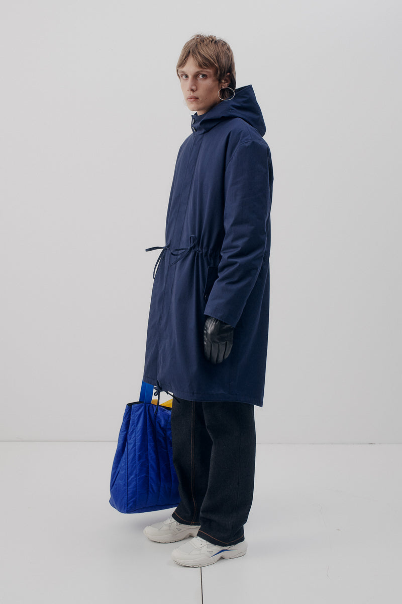 Parka Cotton, Blue