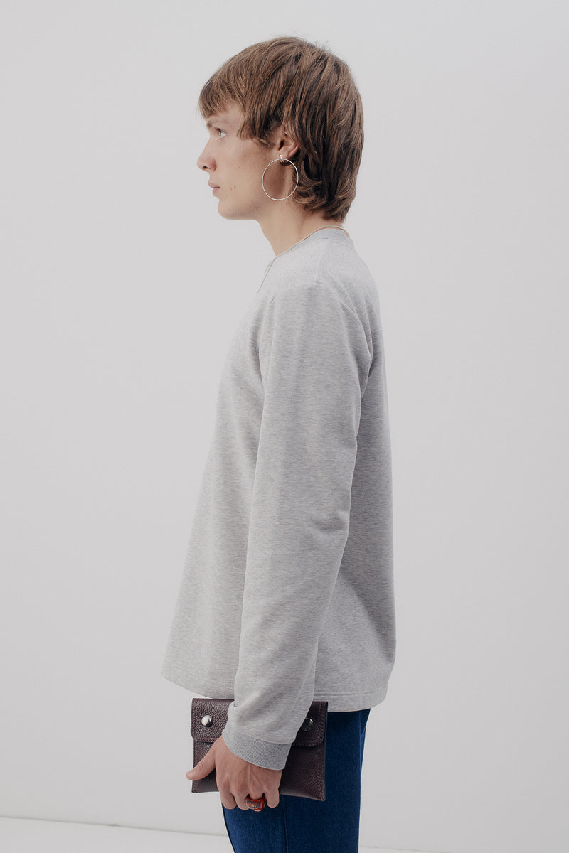 Sweater, Melange-Grey