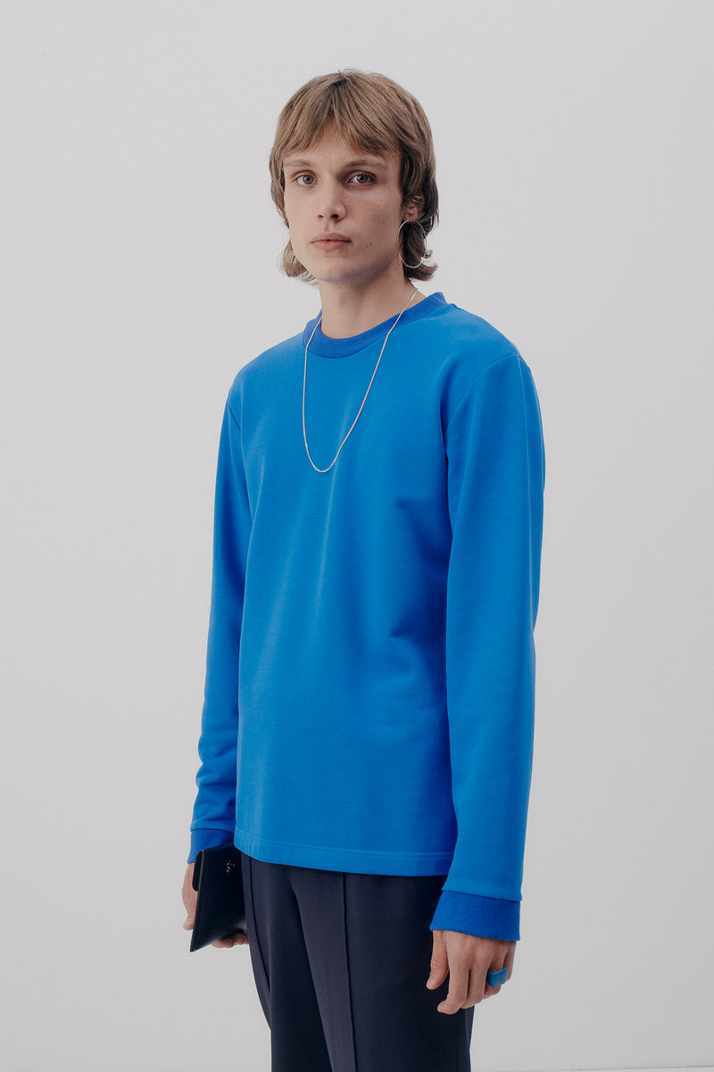 Sweater, Retro Blue