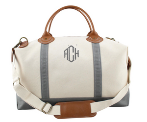 Oversized Canvas Weekender Duffle Bag