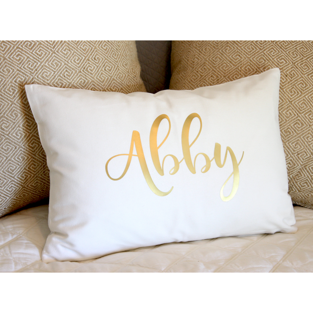 Throw Pillow Personalized with Name or Text