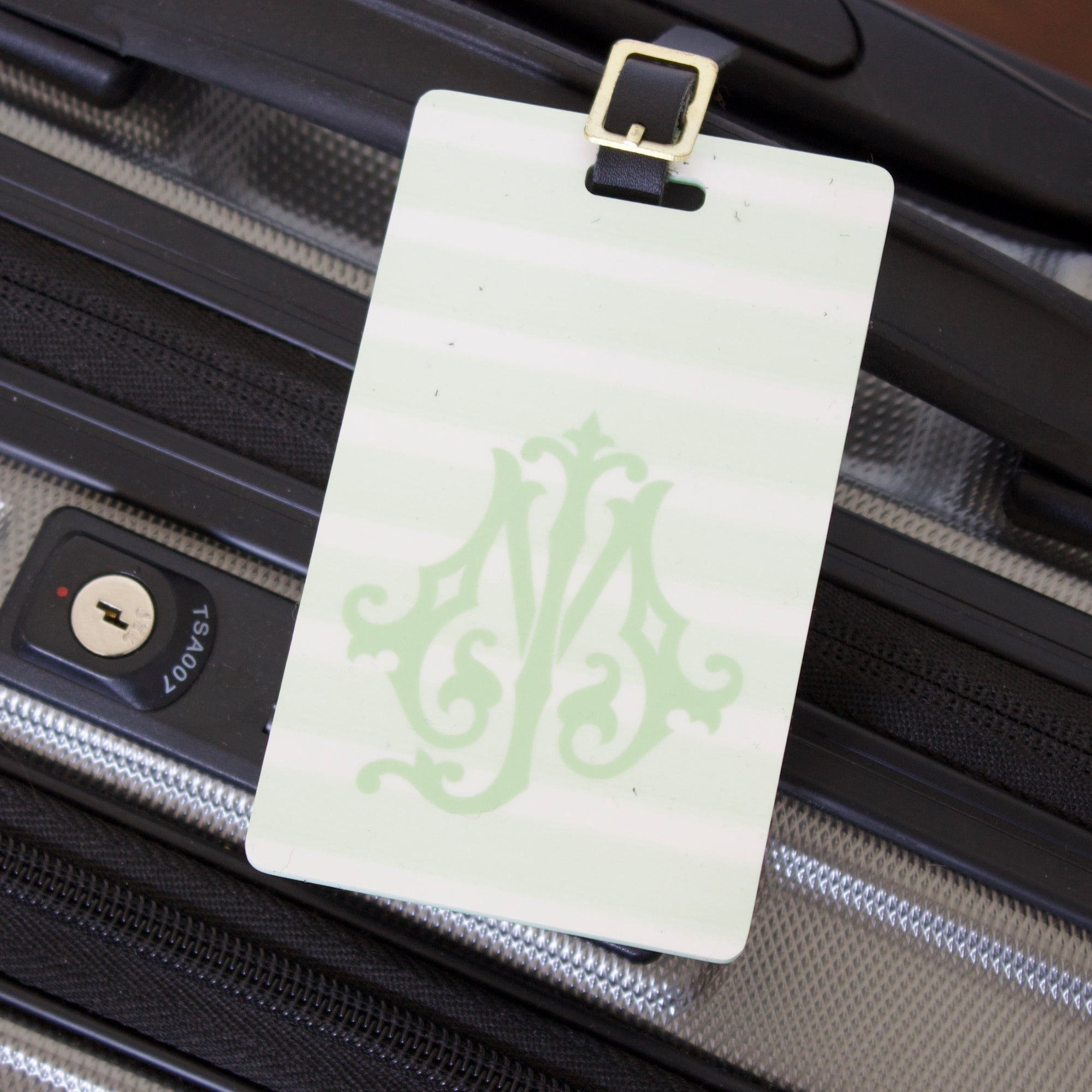 Chic Monogram Luggage Tag & Wrap Set