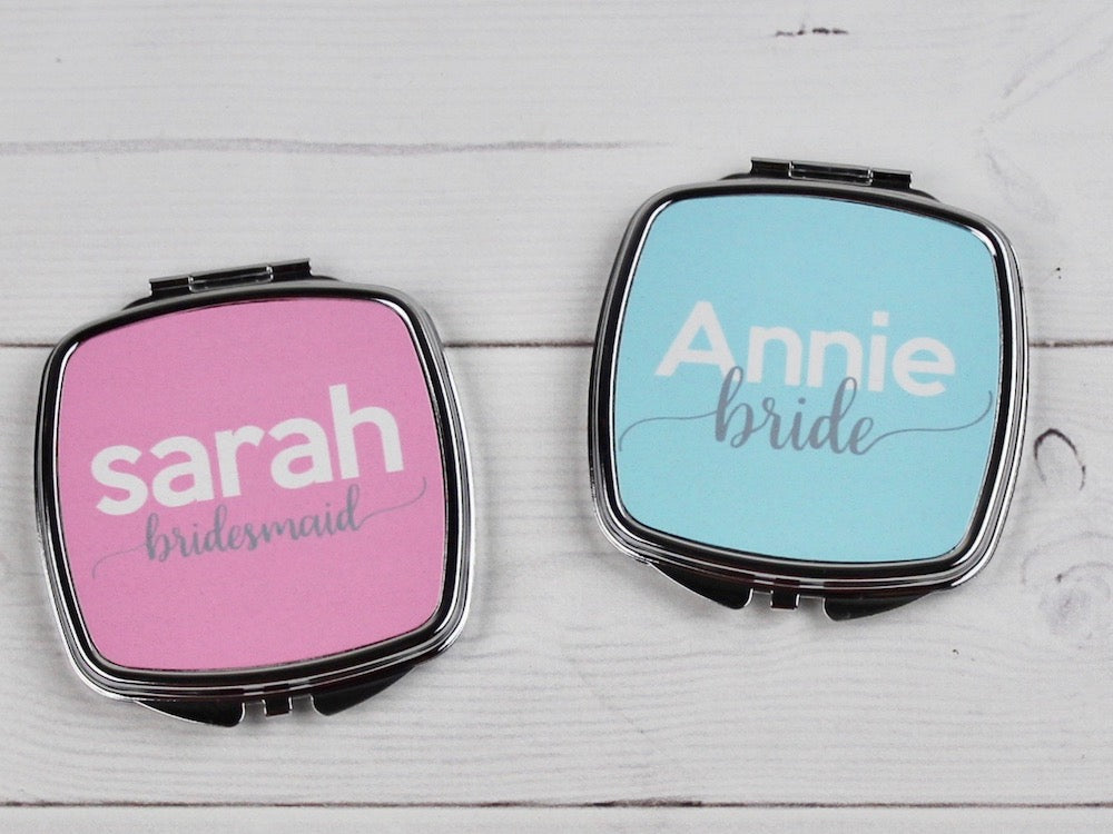Custom Design Personalized Compact Purse Mirror