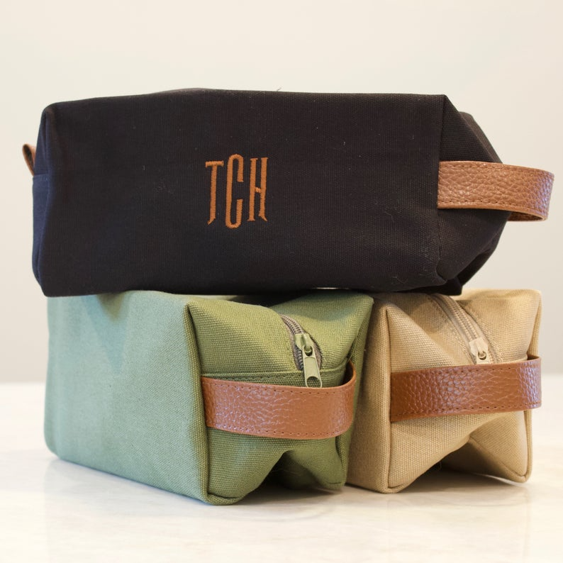 Small Canvas Dopp Kit