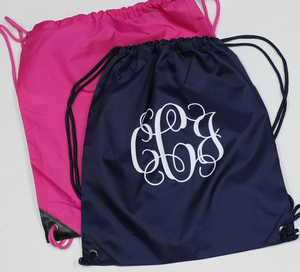 Monogram Drawstring Backpack